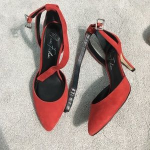 Red Marc Fisher Heels